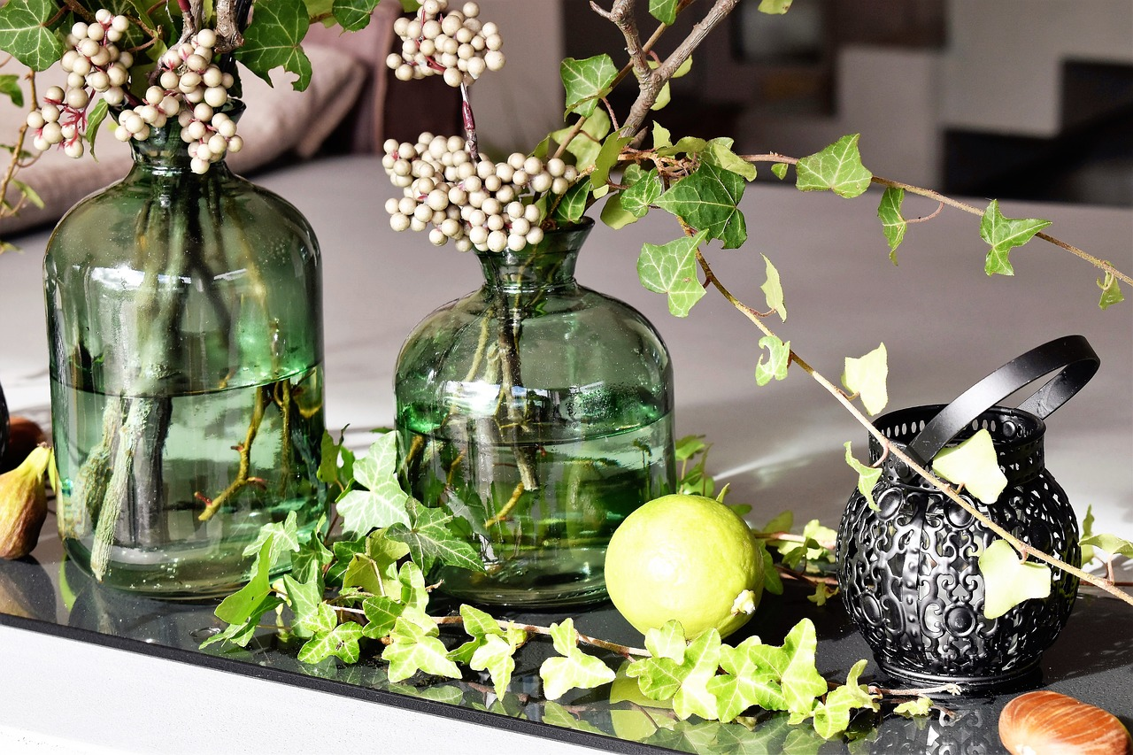 decoracion flores frascos