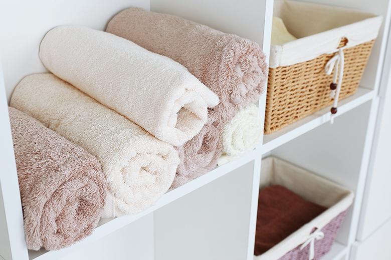 almacenamiento de toallas