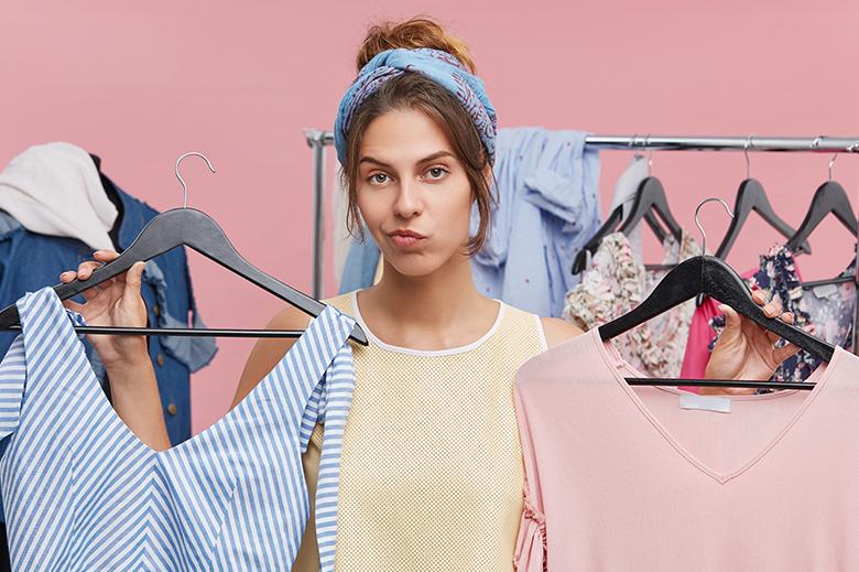 difícil de elegir la ropa